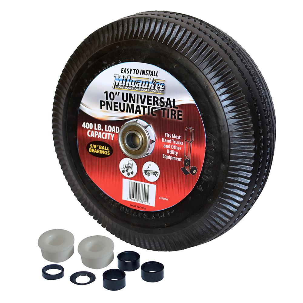 Milwaukee 10 In Pneumatic Tire 3339rw The Home Depot