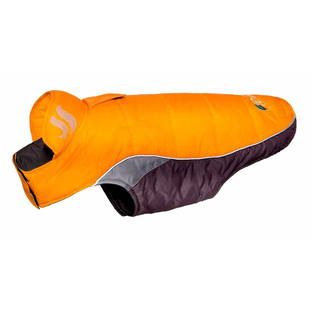 Large Sporty Orange Hurricane-Waded Plush 3M Reflective Dog Coat with Blackshark