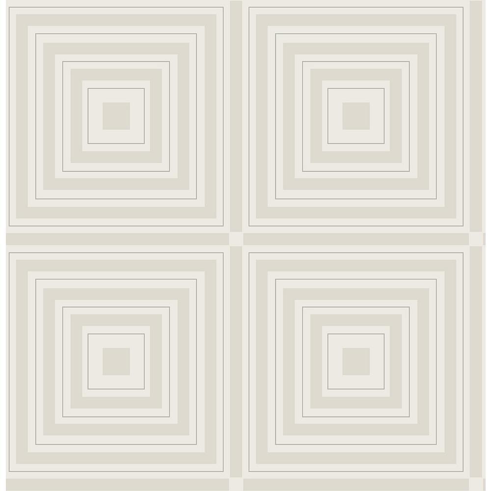 A-Street 56.4 sq. ft. Luminous Silver Geometric Wallpaper 2763-87317