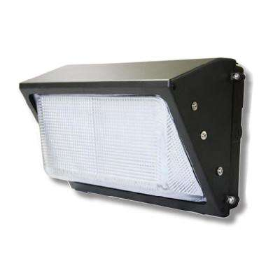 Traditional 400-Watt Equivalent 5000K Integrated LED Bronze Dusk to Dawn Wall Pack Light