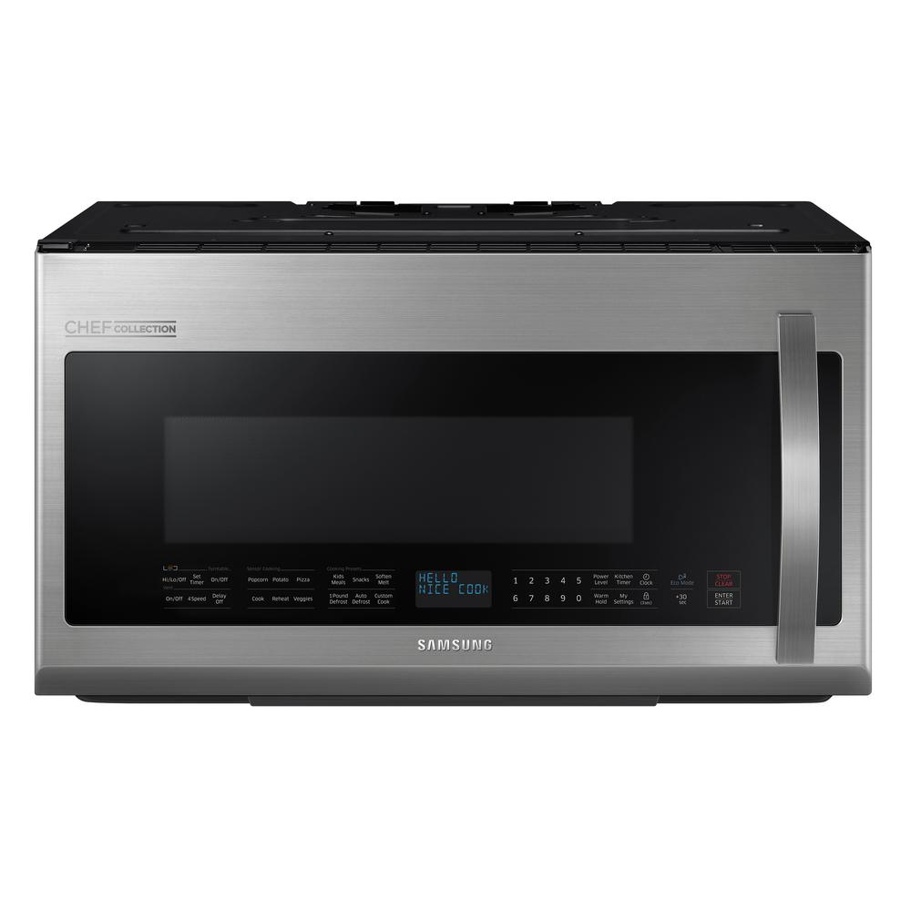 Samsung CHEF Collection 21 cu ft Over the Range Microwave in