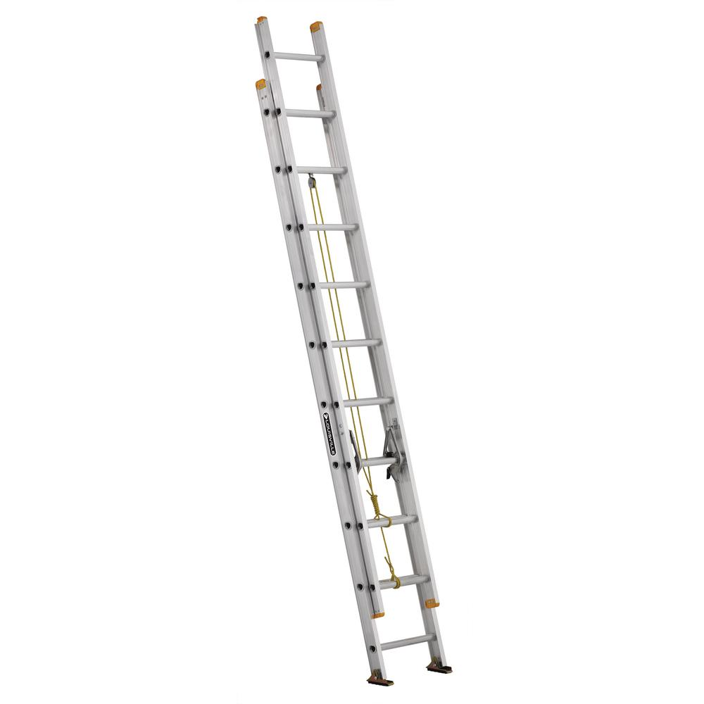 Louisville 20 ft. Aluminum Extension Ladder with 250 lbs....