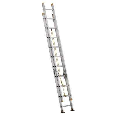 20 ft. Aluminum Extension Ladder with 250 lbs. Load Capacity Type I Duty Rating