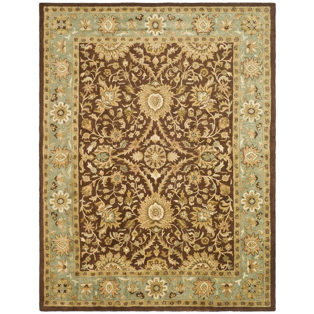 Safavieh Antiquity Chocolate/Blue 7 ft. 6 in. x 9 ft. 6 in. Area Rug