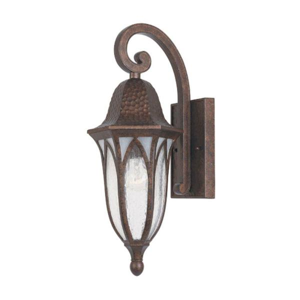 Designers Fountain Berkshire Burnished Antique Copper Outdoor Wall Mount Lantern Sconce 20611 Bac The Home Depot