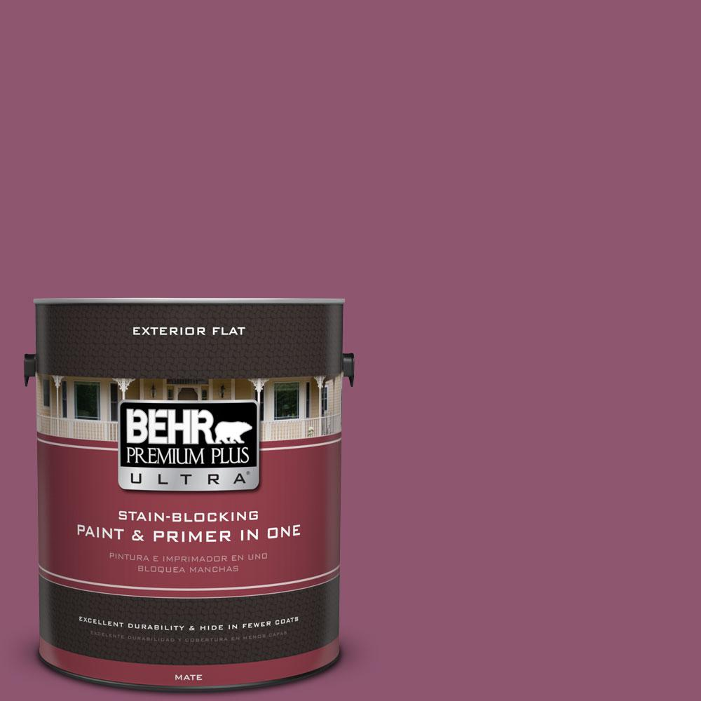 1-Gal. #PPU1-17 Majestic Orchid Flat Exterior Paint