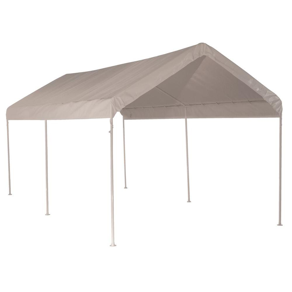 Instruction To Set Up A Portable Carport : Shelterlogic max ap ft white all purpose
