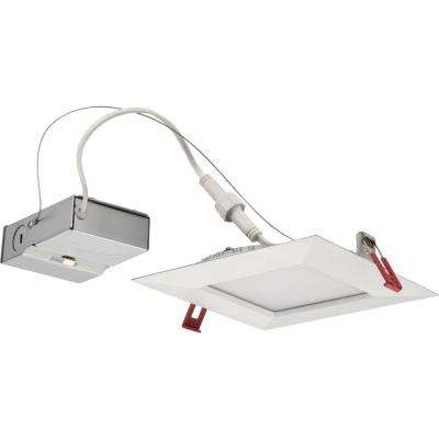 WF6 Wafer Square 6 in. Warm White New Construction or Remodel Wet Location Integrated LED Recessed Kit