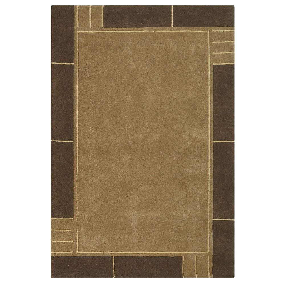 Home Decorators Collection Plaza Brown 7 ft. 6 in. x 9 ft. 6 in. Area Rug