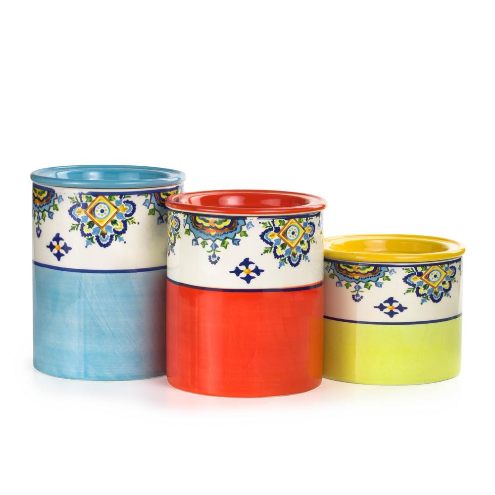 Mumbai 3-Piece Ceramic Canister Set