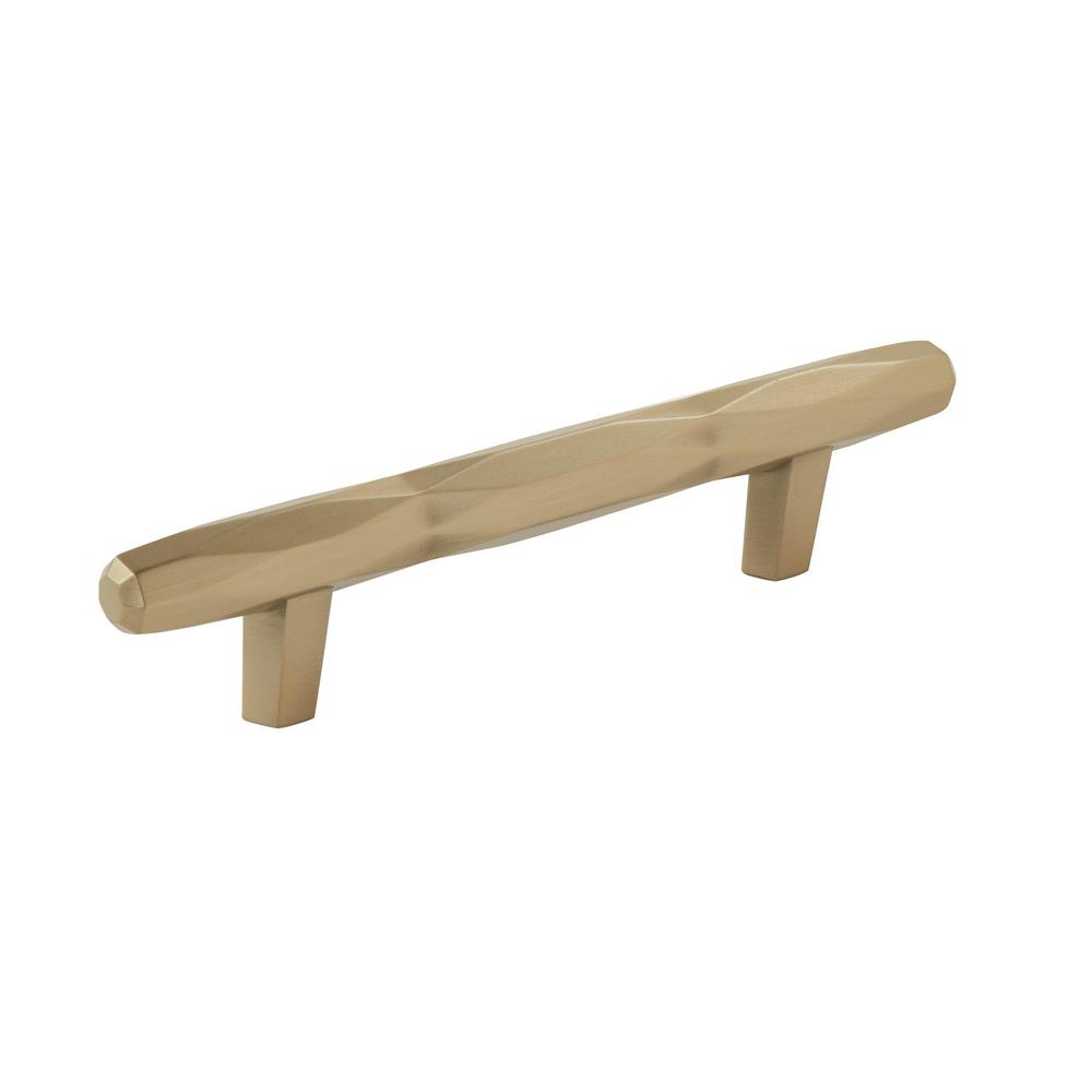 Amerock St. Vincent 3-3/4 in. (96 mm) Center-to-Center Center Golden Champagne Cabinet Pull