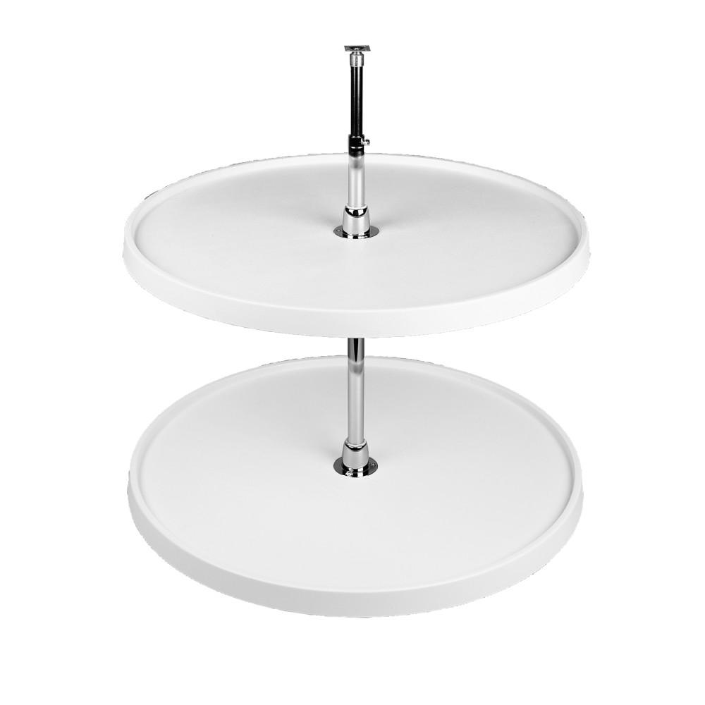 This Review Is From 26 In H X 18 W D White Polymer 2 Shelf Full Circle Lazy Susan Set