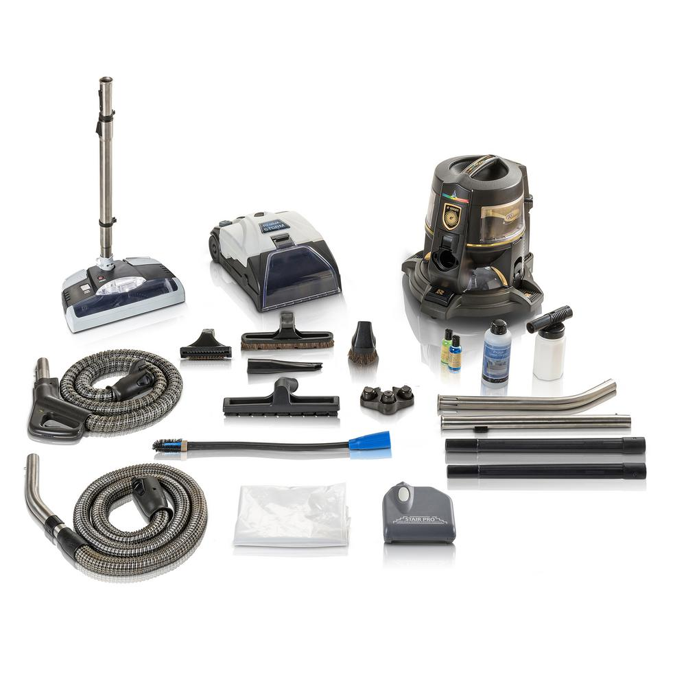 Rainbow Reconditioned E Series E2 Gold 2 Speed Canister Vacuum Cleaner with E2 Tool Hose and GV Power Head with Prolux Storm