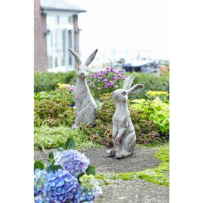 20 in. H, 24.5 in. H Poly-Stone Rabbit (Set of 2)