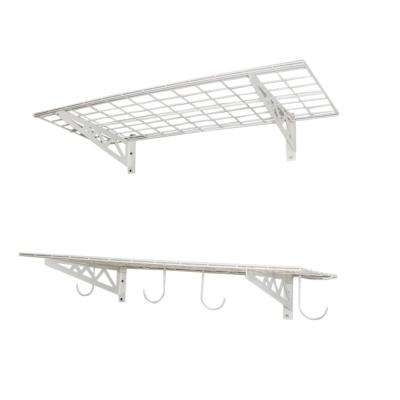 18 in. x 36 in. Industrial Steel Wall Shelves (2-Pack)