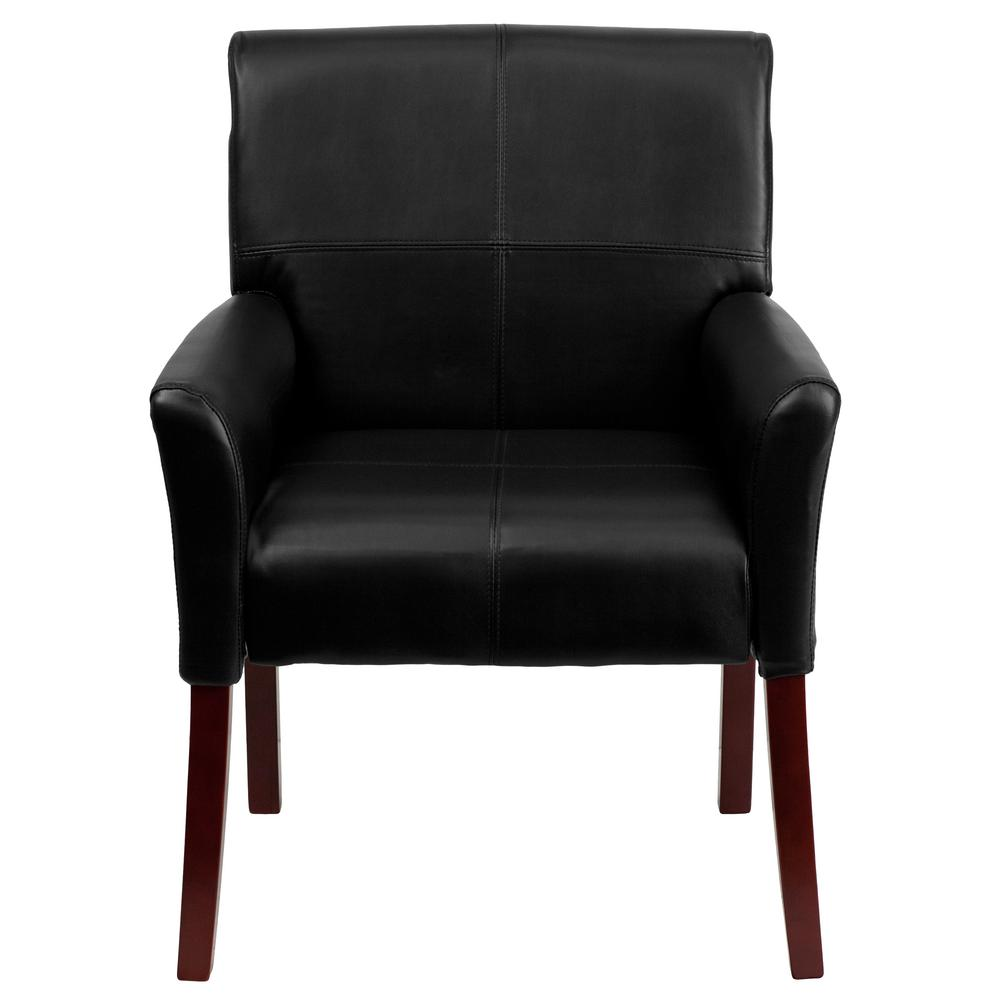 Black Leather Side Chair