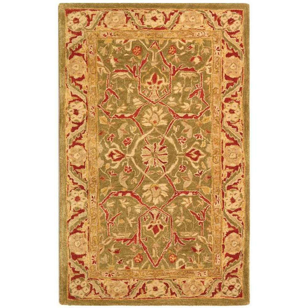 Anatolia Green/Red 3 ft. x 5 ft. Area Rug