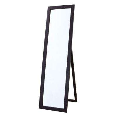 Astoria 18 in. x 64 in. Single Framed Full Length Floor Mirror in Espresso