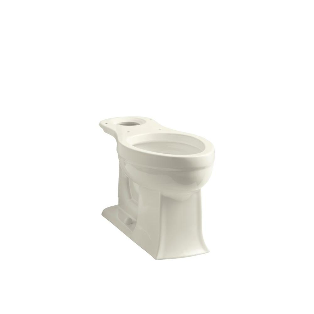 Archer Comfort Height Elongated Toilet Bowl Only in Biscuit