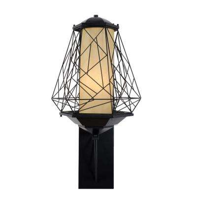 Wright Stuff 1-Light Black Outdoor Large Sconce