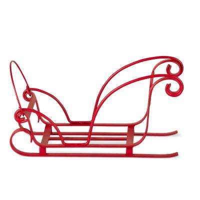 5 in. Christmas Sleigh Wine Bottle Holder