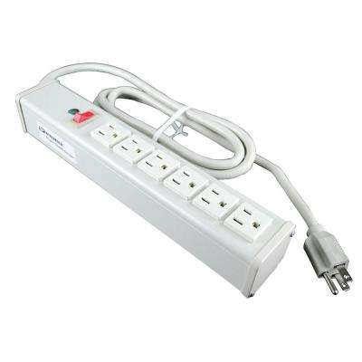 6-Outlet 15-Amp Office Power Strip with On/Off Switch, 15 ft. Cord
