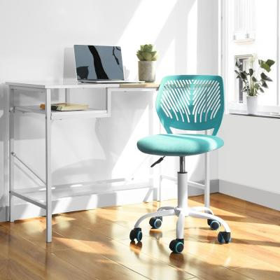Carnation Turquoise Upholstery Task Chair