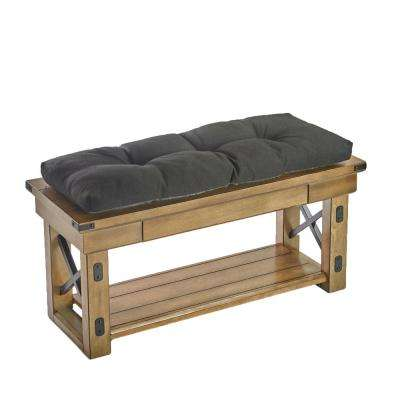 The Gripper Tufted 36 in. Omega Midnight Universal Bench Cushion