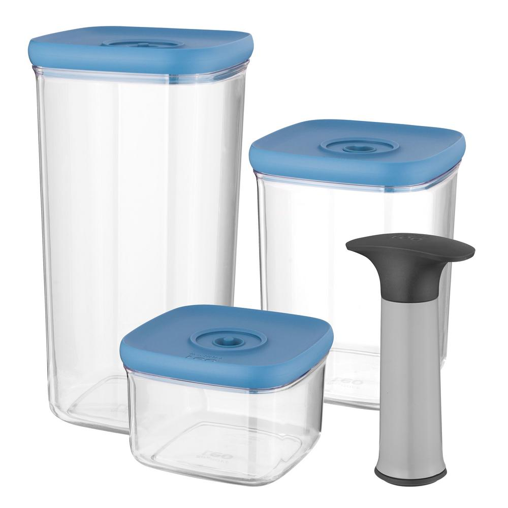 Leo 4-Piece Vacuum Food Container Set