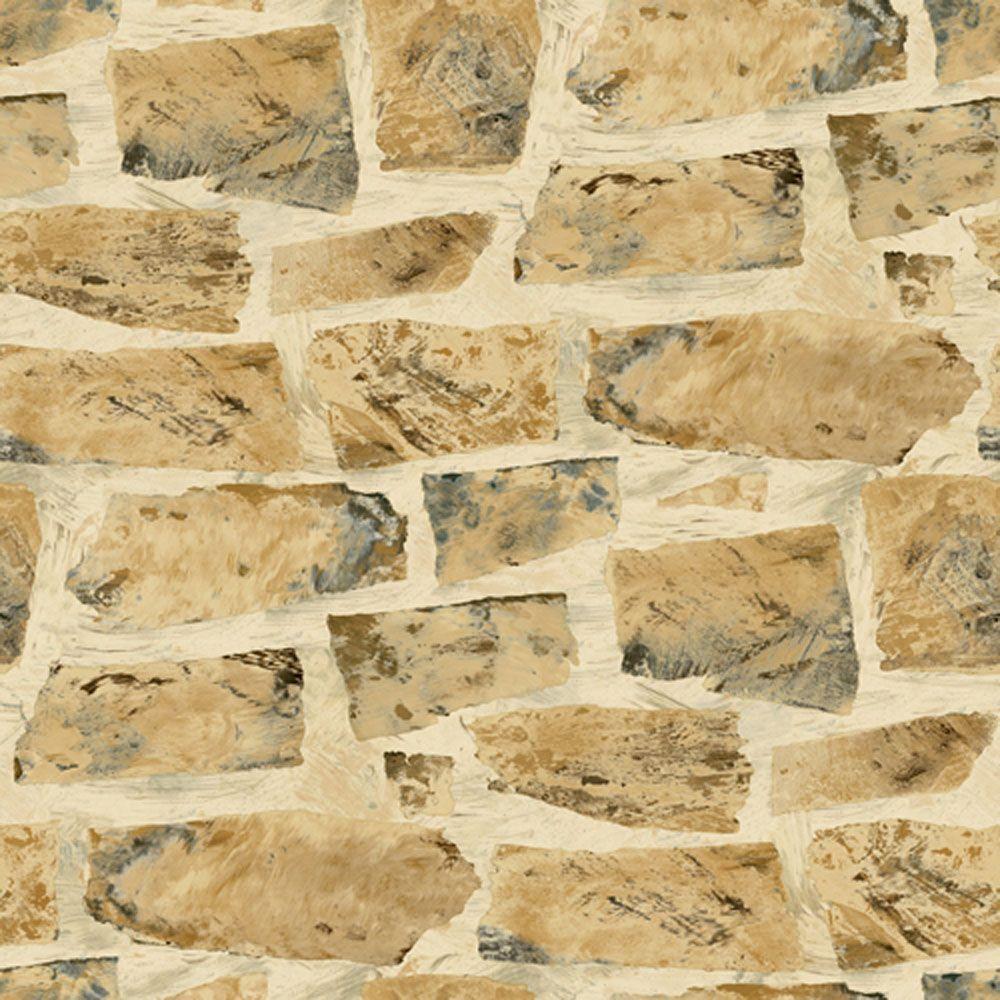 The Wallpaper Company 56 sq. ft. River Rock Wallpaper