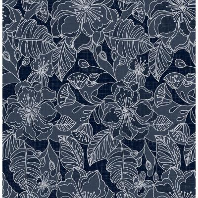 Toulouse Navy Floral Wallpaper