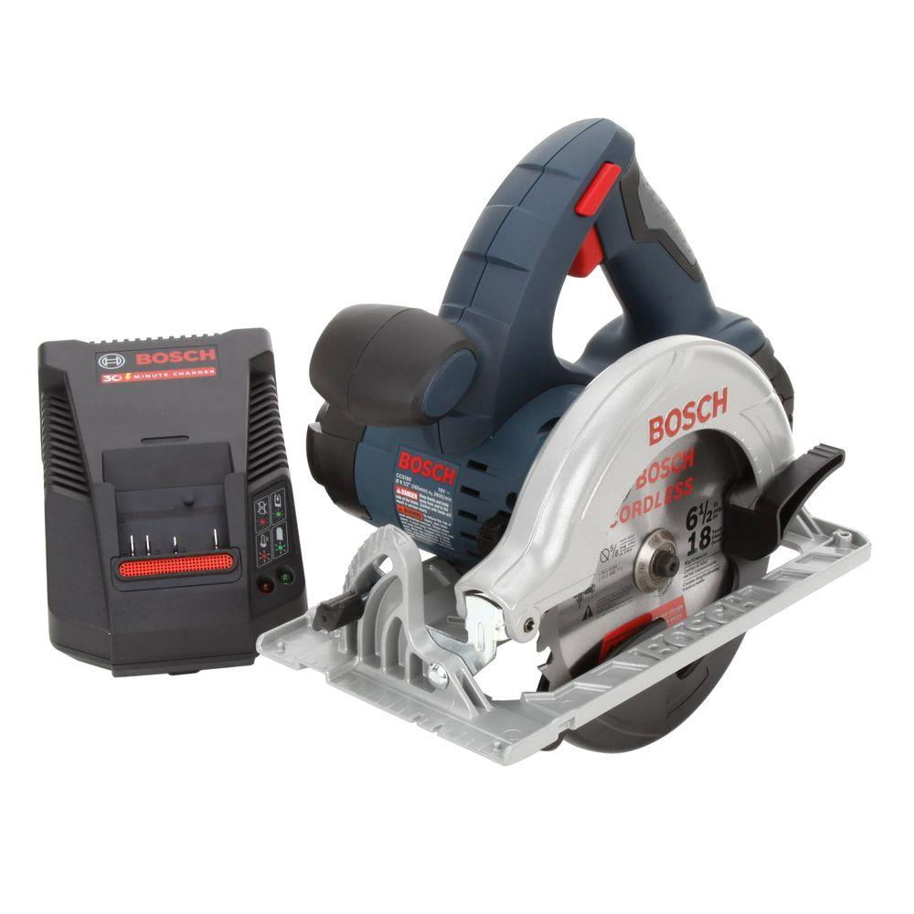 Bosch 18-Volt Lithium-Ion Circular Saw with 1 Fat Pack Battery and Charger