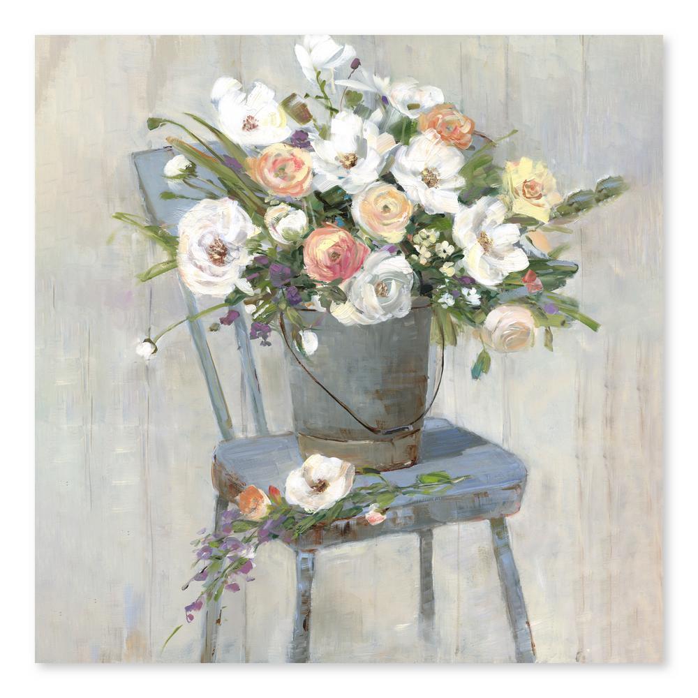 """Farmhouse Setting"" by Sally Swatland Hand Embellished Canvas Wall Art"
