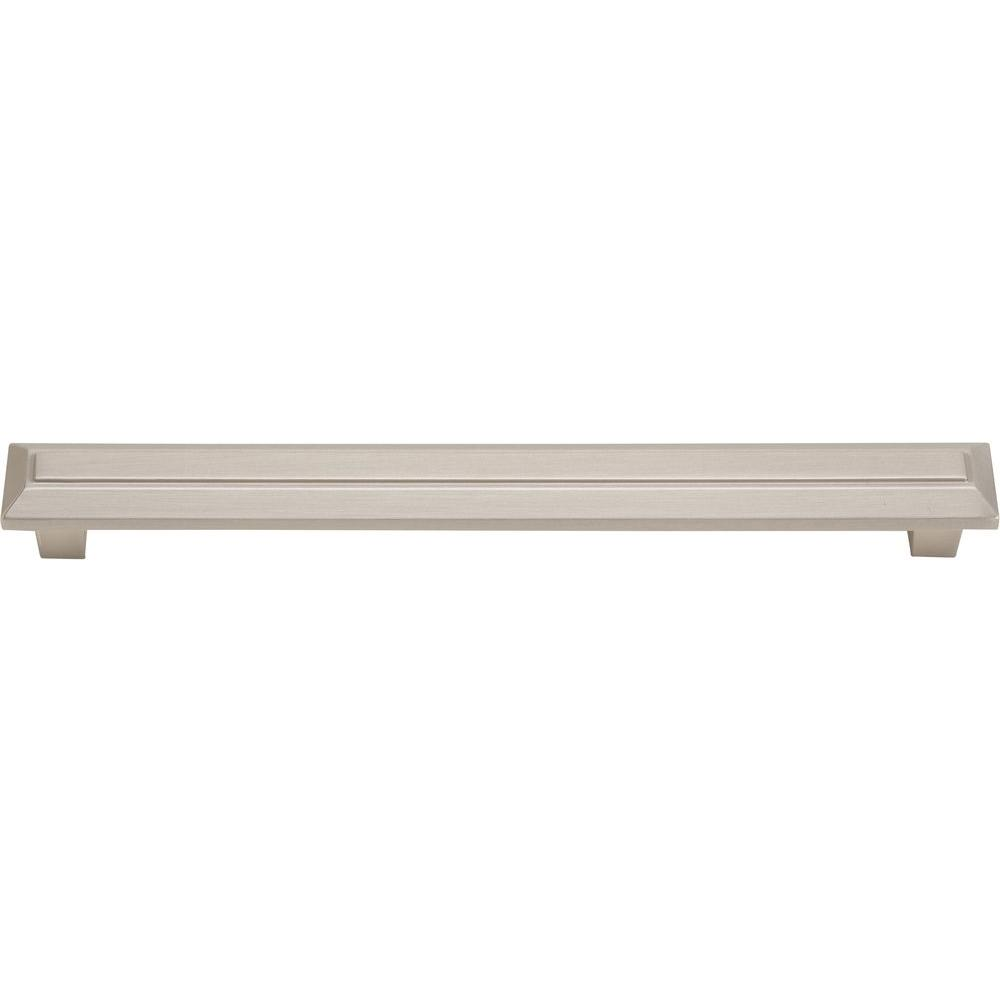 Atlas Homewares Trocadero 6.3 in. Brushed Nickel Large Cabinet Pull
