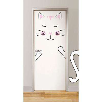 Pink Lily the Cat Door Decal