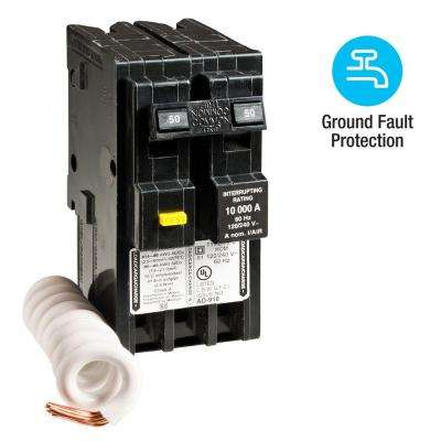 Homeline 50 Amp 2-Pole GFCI Circuit Breaker