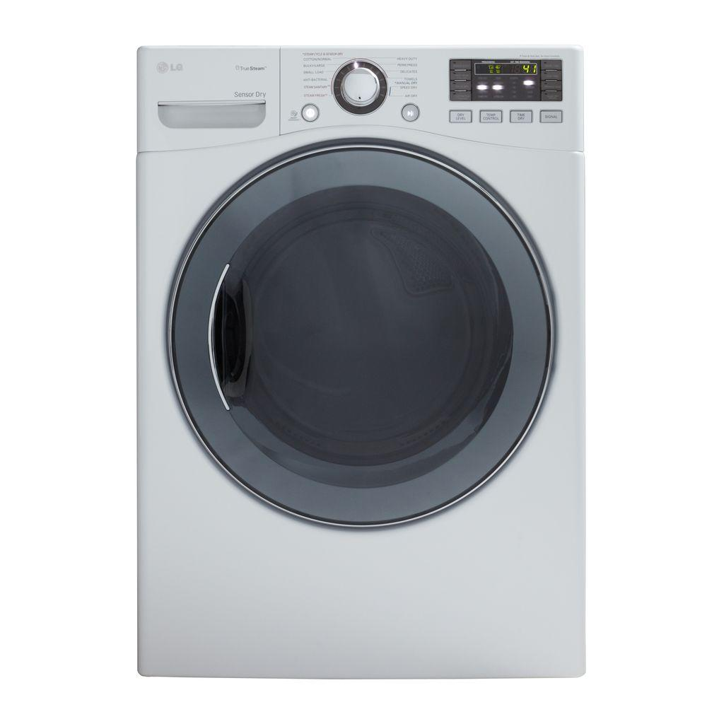 LG Electronics 7.3 cu. ft. Electric Dryer with Steam in White-DISCONTINUED