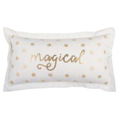 Christmas Magical 14 in. x 26 in. Decorative Filled Pillow