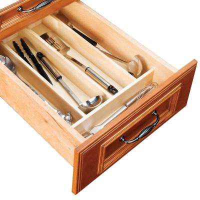 13x3x19 in. Utensil Tray Divider for 18 in. Shallow Drawer in Natural Maple