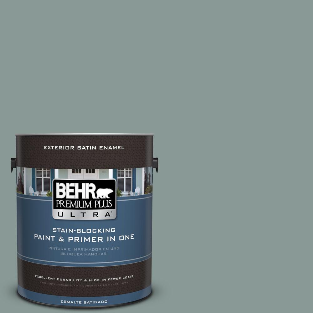 BEHR Premium Plus Ultra 1-gal. #N430-4 Rainy Afternoon Satin Enamel Exterior Paint