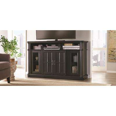 Albion 60 in. Freestanding Infrared Electric Fireplace TV Stand in Providence Black