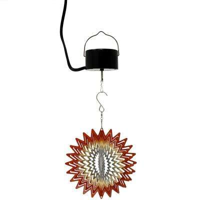 6 in. Orange Star Wind Spinner with Electric-Operated Motor