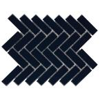 Restore Navy Herringbone 9 in. x 12 in. x 6mm Glazed Ceramic Mosaic Tile (0.60 sq. ft. / Piece)
