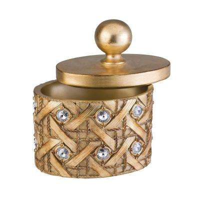 9 in. Mahla Jewelry Box in Gold