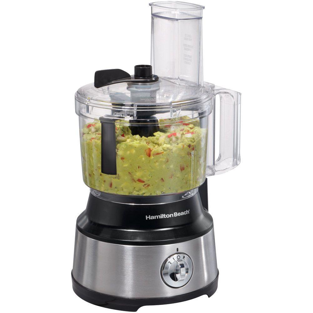 Hamilton Beach 450-Watt 10-Cup Food Processor with Bowl Scraper Attachment