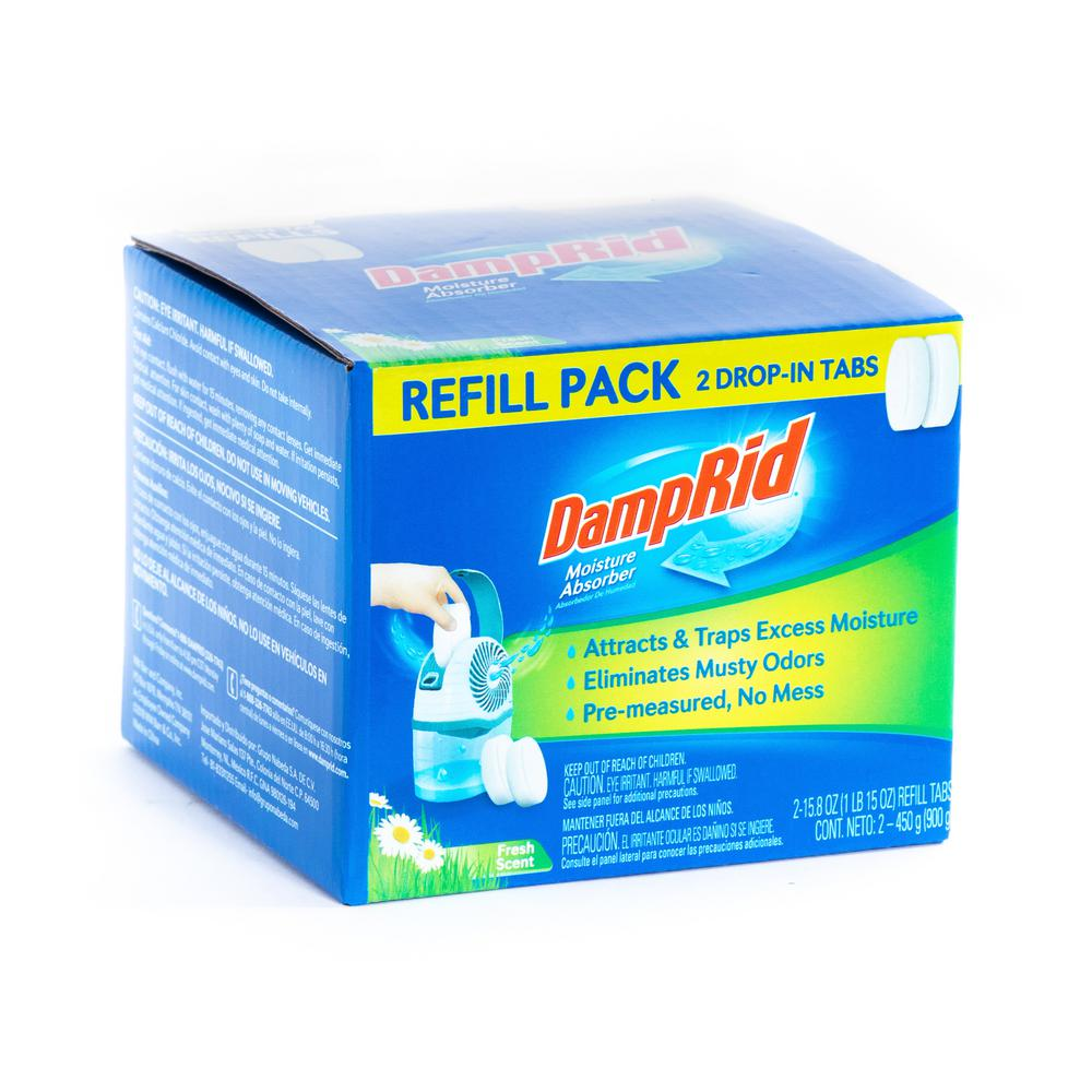 DampRid DampRid 15.8 oz. Fresh Scent Drop-In Tab Moisture Absorber Refills (2-Pack)
