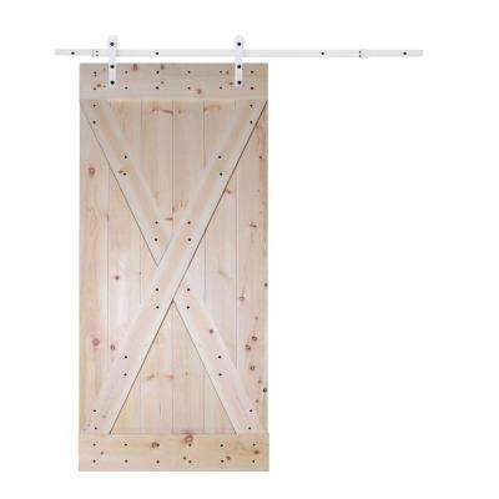 36 In X 84 Panel Solid Core Knotty Pine Interior Barn