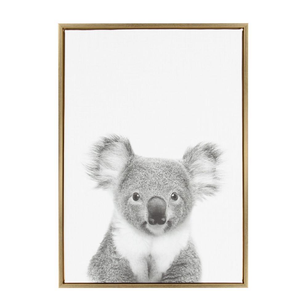 """Sylvie """"Koala II"""" by Tai Prints Framed Canvas Wall Art"""