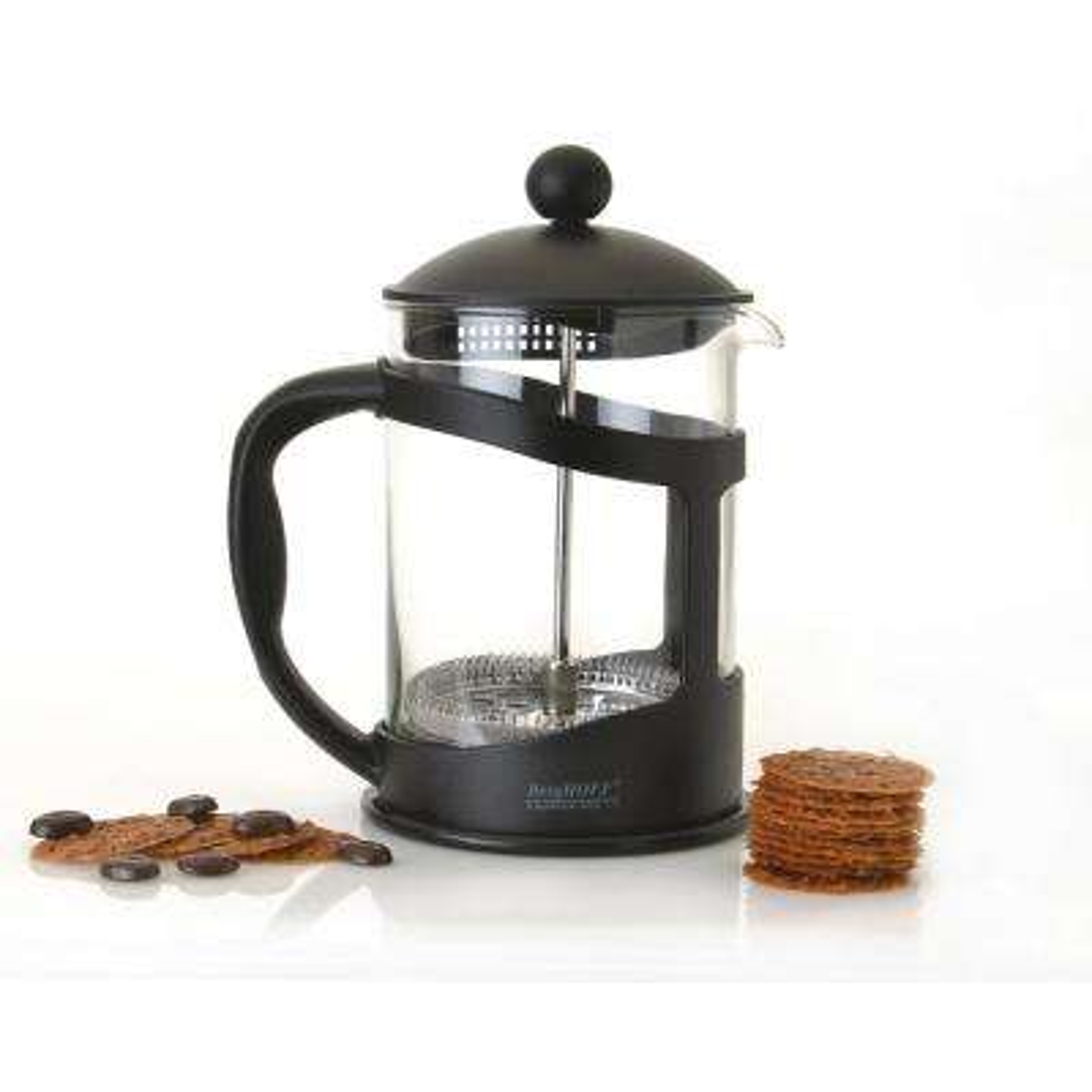 Studio 3.4-Cup Black Borosilicate Glass Coffee and Tea Plunger