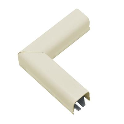 Wiremold 500 Series Metal Surface Raceway 90° Flat Elbow, Ivory